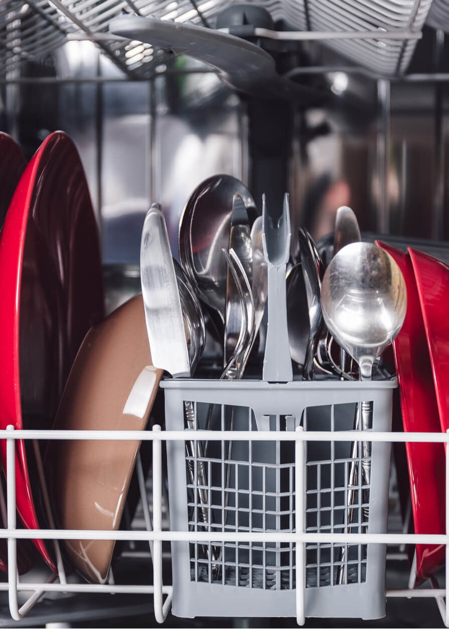 open dishwasher in a naperville home